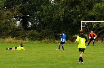Julian Hawes goes for goal.