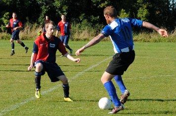 Opening goal-scorer Neil Hailstone in action.