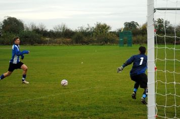 Will Lee bearing down on goal.