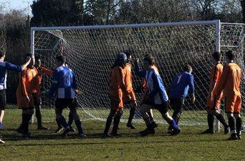 ...And he turns away with the ball nestled in the goal, leaving his team mates jubilant.