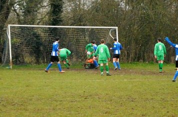 Buckingham see the ball cross the line...