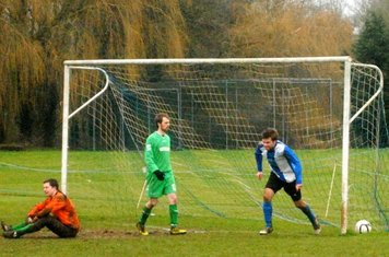 Bray wheels away having just made sure Karl Dickens' equaliser had in fact crossed the line...