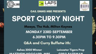 Sport Curry Night with Gail Emms, Matthew Hoggard and Greg Bateman