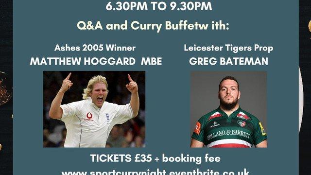 Sport Curry Night with Gail Emms, Matthew Hoggard and Greg Bateman