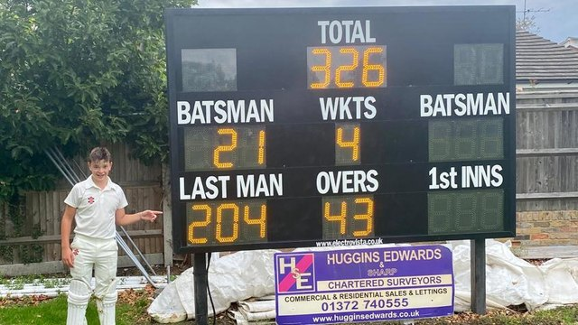 Not just one Epsom CC club record but two