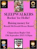 Sleepwalkers for Hollie's Night at Chippenham RFC
