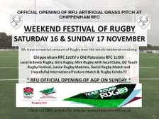 RFU Artificial Grass Pitch - Weekend Festival of Rugby!!!