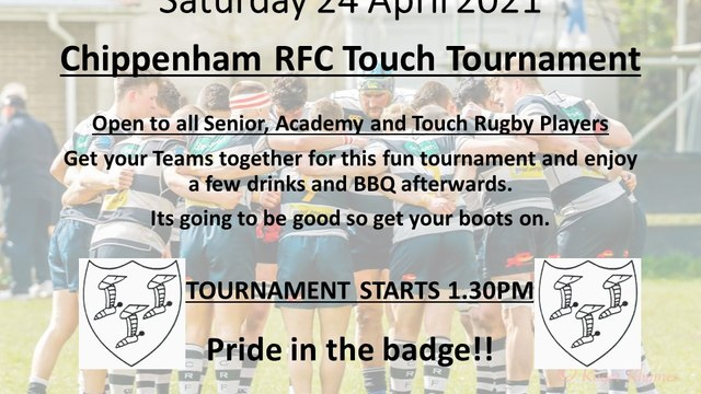 Chippenham RFC Touch Tournament - Sat 24 April