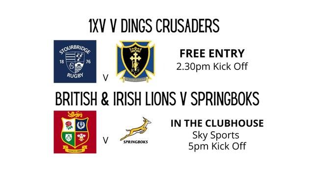Pre-season friendly    1XV  v Dings Crusaders   Saturday 7th August     KO 2.30pm