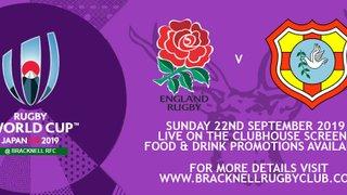 RWC - England V Tonga