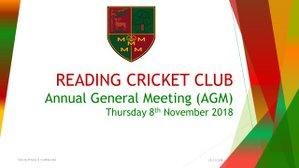 Reading Cricket Club AGM
