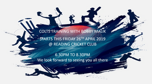 COLTS OUTDOOR TRAINING - STARTS THIS FRIDAY (26TH APRIL)