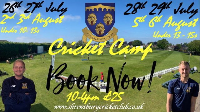 Shrewsbury Cricket Summer Camp