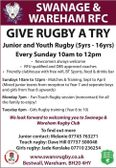 GIVE RUGBY A TRY!