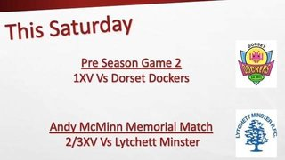 Weekend Fixtures for Swanage and Wareham RFC Saturday 6th September