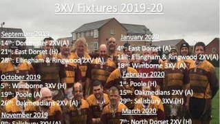 Swanage and Wareham RFC 3nd Team Fixtures 2019/2020