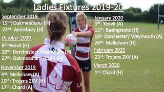 Swanage and Wareham RFC Ladies Team Fixtures 2019/2020