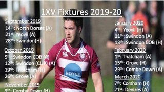 Swanage and Wareham RFC 1st Team Fixtures 2019/2020