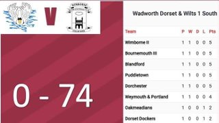 Result for Saturday 14th September Home Game