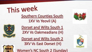 Fixtures for this coming weekend