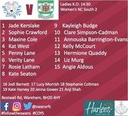 Ladies Teamsheet Sunday 20th