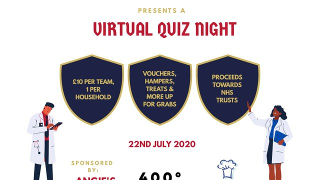 Virtual charity quiz - Wed 22 July