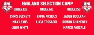 Chelmsford players selected for England trials.