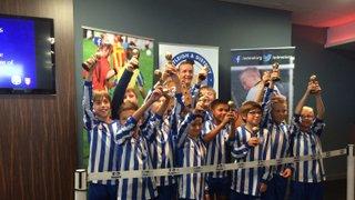 Littleton U10s Lions Win EDMSL Fair Play Award with presentation at St Mary's stadium