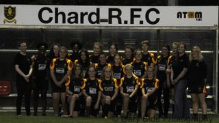 Chard Under 15 Girls Training Evening with Sponsor Eleos Cafe ~ 21 September 2016