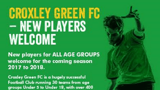 NEW PLAYERS WANTED AT ALL AGE GROUPS