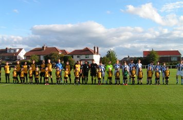 Players line up