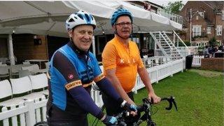 Jez & Pete's 100 mile bike ride to raise money for the Juniors