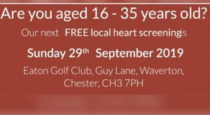 FREE HEART SCREENINGS AT EATON GOLF CLUB SUNDAY 29 SEPTEMBER