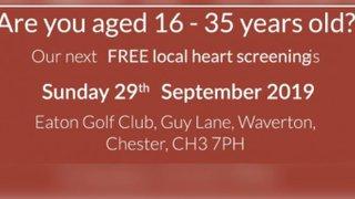 FREE HEART SCREENINGS AT EATON GOLF CLUB SUNDAY 29 SEPTEMBER