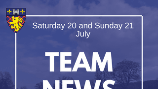Team Selections - Senior Fixtures: Saturday 20 and Sunday 21 July
