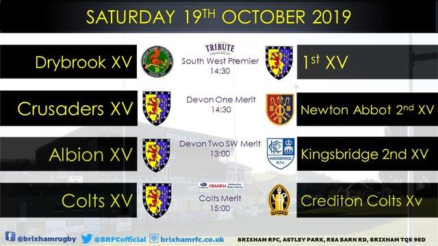 Saturday 19th October