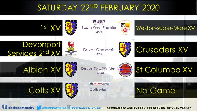 Saturday 22nd February 2020