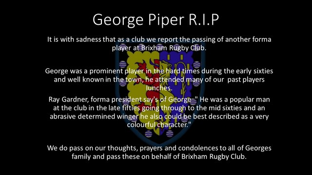 George Piper R.I.P