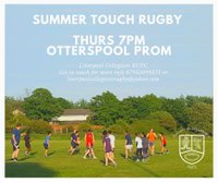 June Touch Rugby Sessions!