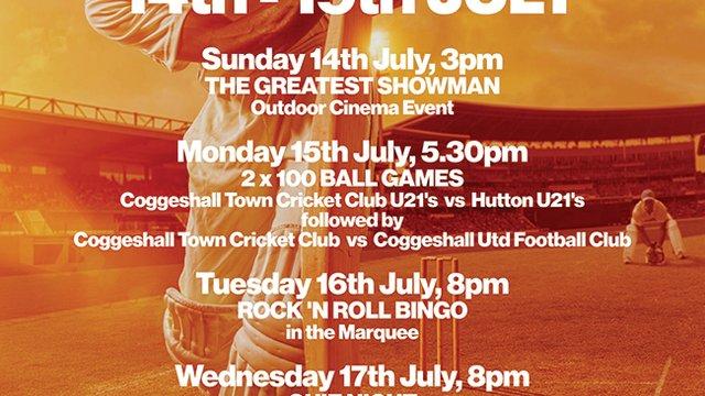 Cricket week 14th-19th June