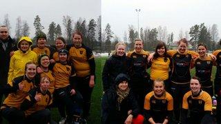 Naiset pelasivat rakkaudesta lajiin kylmässä ja märässä Sääksjärven 7-turnauksessa