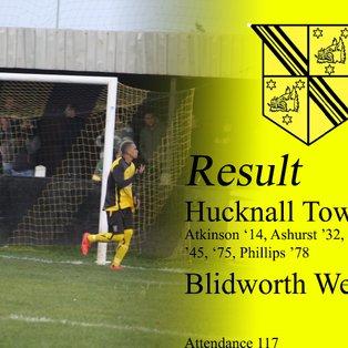 Hucknall Town 6  Blidworth Welfare 0