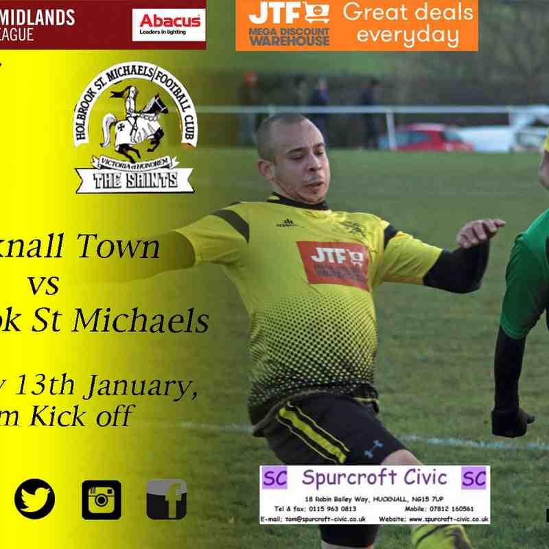 Hucknall Town vs Holbrook St Michaels