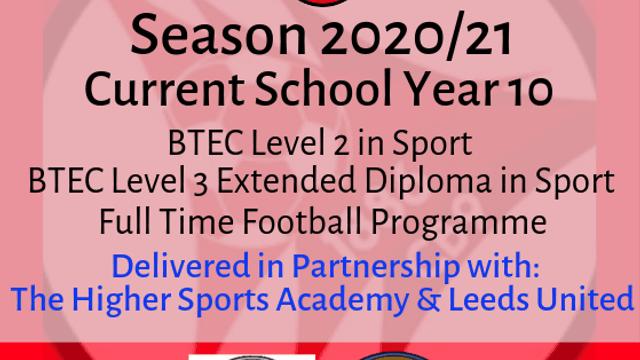 HRFC POST 16 EDUCATION PROGRAMME - SEASON 2020-21
