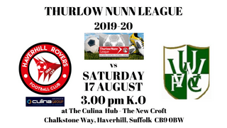 FIRST TEAM BACK IN ACTION - SAT. 17 AUGUST 19 - HOME TO WHITTON UTD  FC