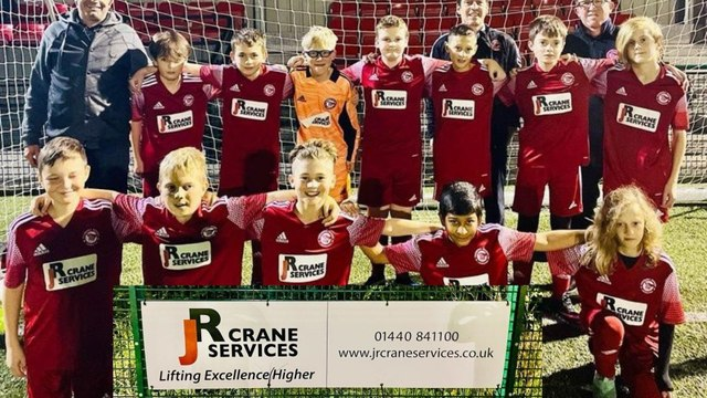SPONSORSHIP THANKS FROM HRFC AND OUR U12 PURPLE TEAM  TO JR CRANE SERVICES