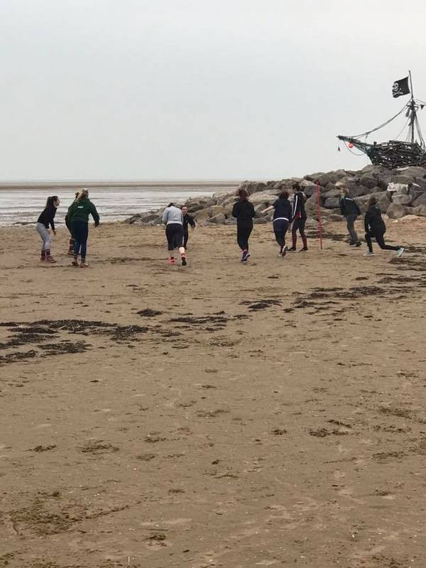 No pitch to train, no problem we have the beach!