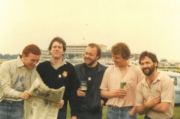 Old Boys at The Derby, 3rd June 1981: Dave Leatham, Tom McLoughlin, Mick Grice, Jim Thornton, Kev McKenna