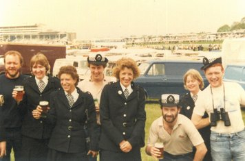 Derby Day 3rd June 1981, when WPC's had more discretion about fraternizing with members of the general public!