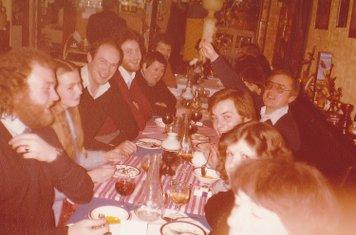 COXA Committee Dinner at 'Delphi' Restaurant, Balham. 16/1/1981